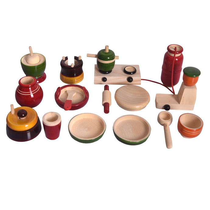 Buy Desi Toys Kitchen Pretend Playset Wooden Toy - GiftWaley.com