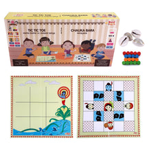 Load image into Gallery viewer, Buy Desi Toys Tic Tac Toe and Chauka Bara 2 in 1 Strategy Board Game - GiftWaley.com