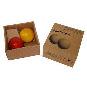 Buy Fairkraft Colourful Wooden Rattle Balls - Set Of 2 - GiftWaley.com