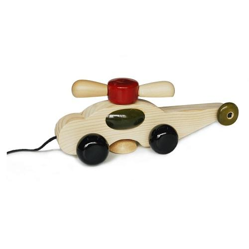 Buy Fairkraft Wooden Helicopter Pull Toy - Spinno - GiftWaley.com
