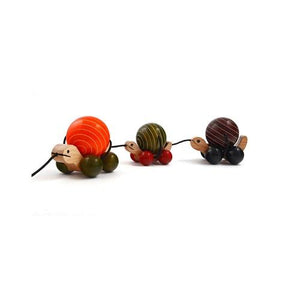 Buy Fairkraft Wooden Pull Toy Turtle - Ma Me Pa - GiftWaley.com