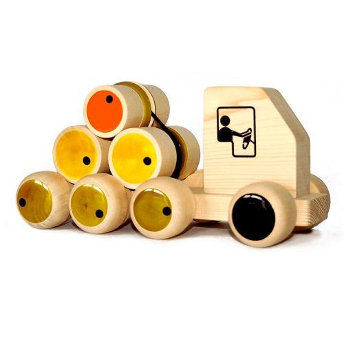 Buy Fairkraft Wooden Push Toy With Rolling Logs - Rumble Lorry - GiftWaley.com