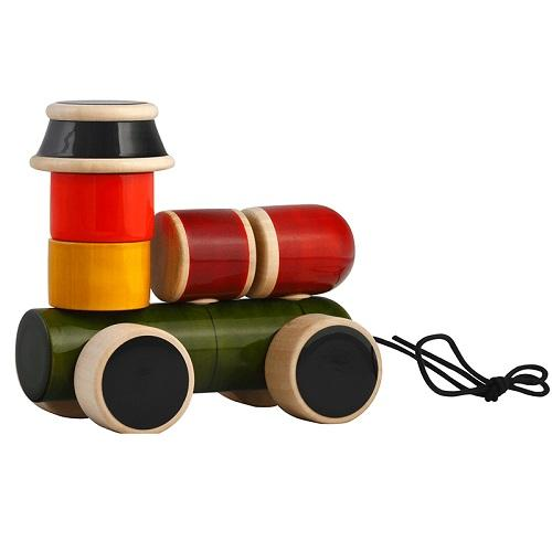 Buy Fairkraft Wooden Stacker And Pull Toy - Engine - GiftWaley.com