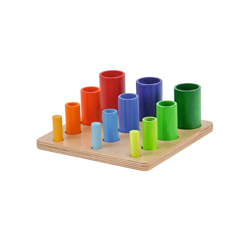 Buy HABA Coloured Cylinder Towers Stacking Toy - GiftWaley.com