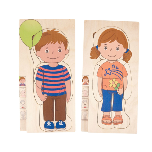 Buy HABA Know You Body Puzzle Boy and Girl Learning Set - GiftWaley.com