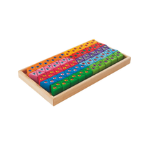 Load image into Gallery viewer, Buy HABA Rainbow Glitter Traingles Building Set Wooden Toy - GiftWaley.com