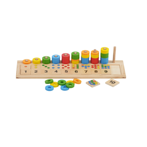Buy HABA Rings, Colours & Numbers Learning Board Set - GiftWaley.com