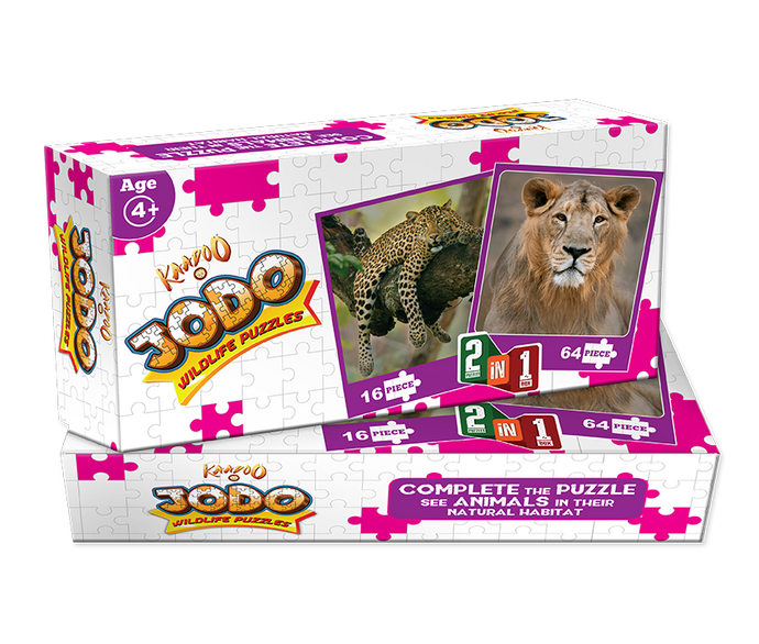 Buy Kaadoo Jodo 2-in-1 Puzzle Game Lion + Leopard - GiftWaley.com