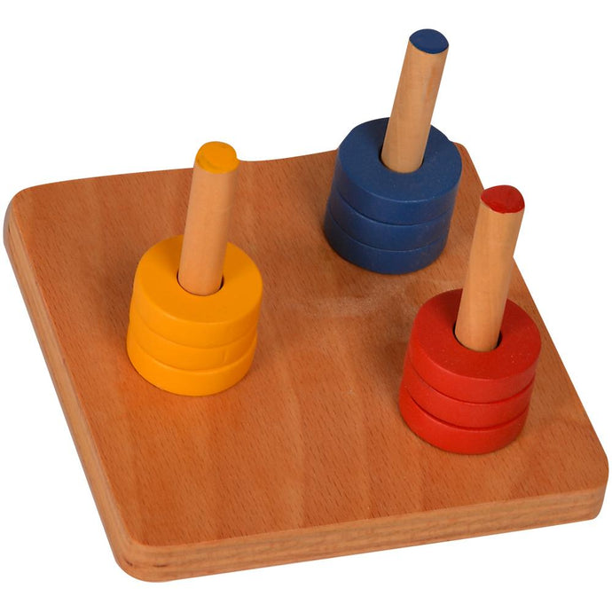 Buy Kidken Colored Discs on 3 Dowels  - GiftWaley.com
