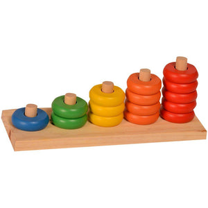 Buy Kidken Montessori 1-5 Counting Rings Learning Board - GiftWaley.com