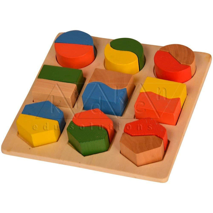 Buy Kidken Montessori Fraction Learing Board - Thick - GiftWaley.com