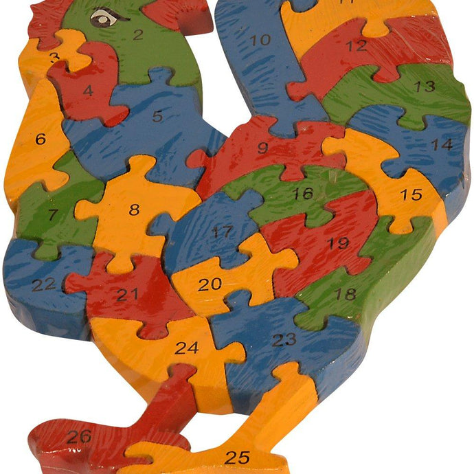Buy Kidken Montessori MDF Puzzle Game - Rooster - GiftWaley.com