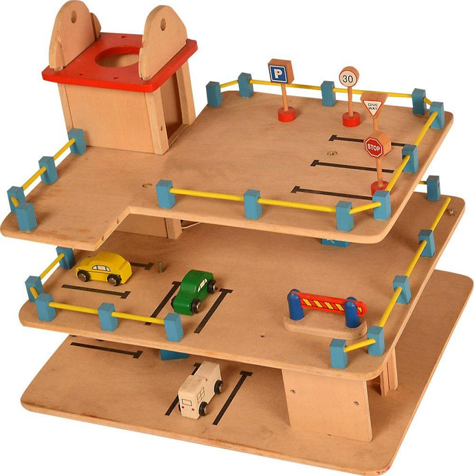 Buy Kidken Montessori Parking Lot Wooden Toys For Early Children and Kids - GiftWaley.com