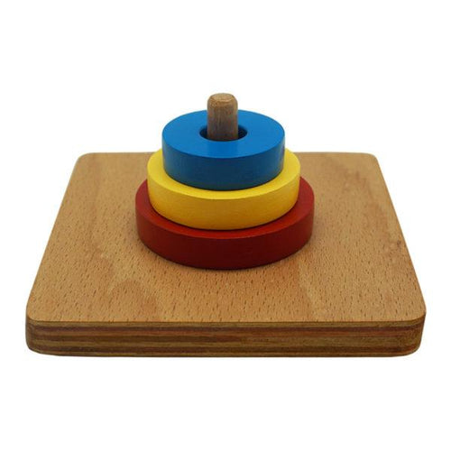 Buy Kido Toys 3 Discs On Vertical Dowel Montessori Material - GiftWaley.com