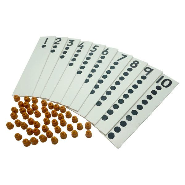 Buy Kido Toys Dot Card With Counters Montessori Material - GiftWaley.com