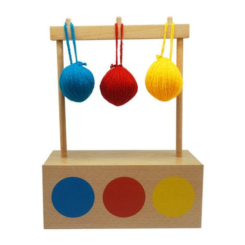 Buy Kido Toys Imbucare Box With 3 Coloured Balls Montessori Material - GiftWaley.com