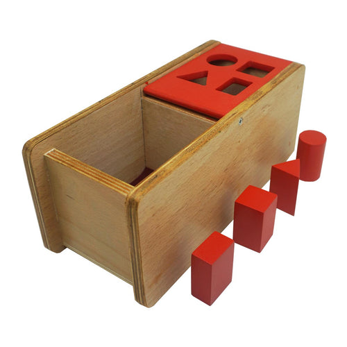 Buy Kido Toys Imbucare Box With Flip Lid 4 Shapes Montessori Material - GiftWaley.com