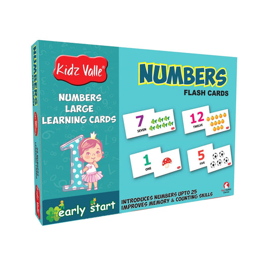 Buy Kidz Valle 25 Numbers Flash Cards - GiftWaley.com