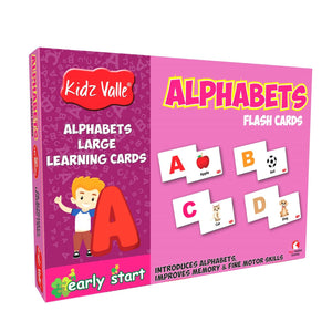 Buy Kidz Valle 26 Alphabets Flash Cards - GiftWaley.com