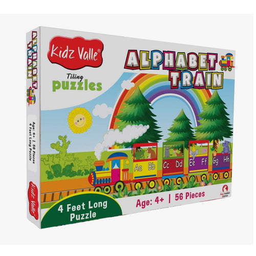 Buy Kidz Valle Alphabet Train 4 Feet Long 56 Piece Tiling Puzzles Game - GiftWaley.com
