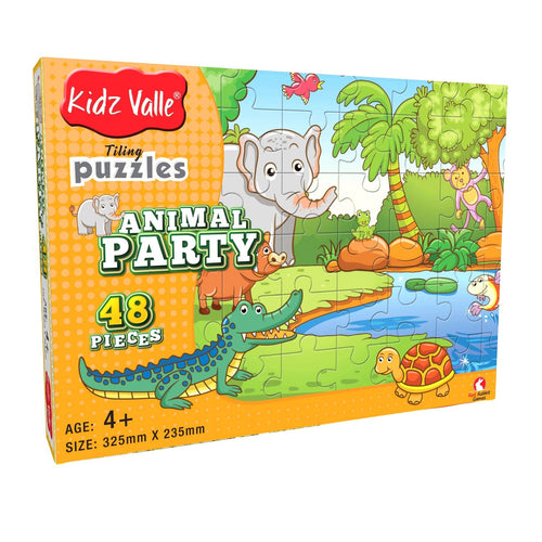 Buy Kidz Valle Animal Party 48 Pieces Tiling Puzzles Game - GiftWaley.com