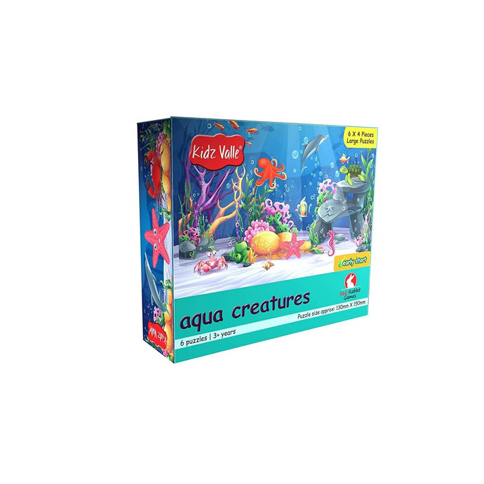 Buy Kidz Valle Aqua Creatures 6 X 4 Pieces Puzzle Game - GiftWaley.com