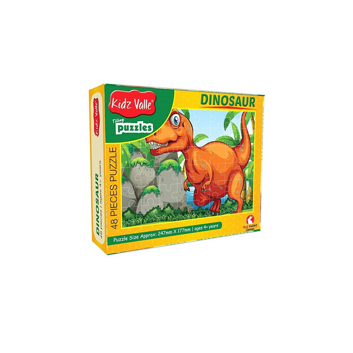 Buy Kidz Valle Dinosaur 48 Pieces Tiling Puzzle Game - GiftWaley.com