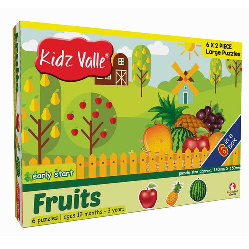 Buy Kidz Valle Fruits 6 X 2 Pieces Puzzle Game - GiftWaley.com