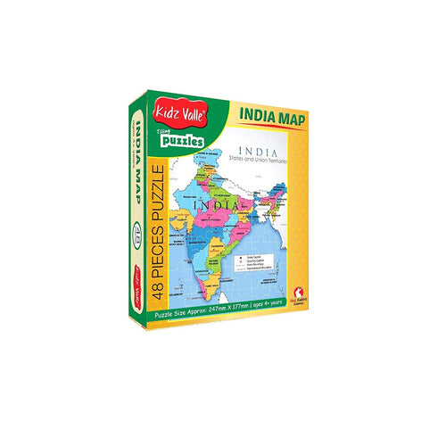 Buy Kidz Valle India Map 48 Pieces Tiling Puzzle Game - GiftWaley.com