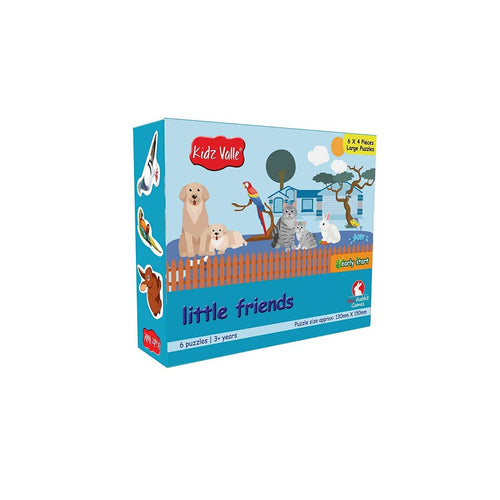 Buy Kidz Valle Little Friends 6 X 4 Pieces Puzzles Game - GiftWaley.com