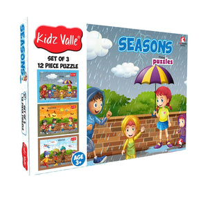 Buy Kidz Valle Seasons 3 X 12 Pieces Puzzles Game - GiftWaley.com