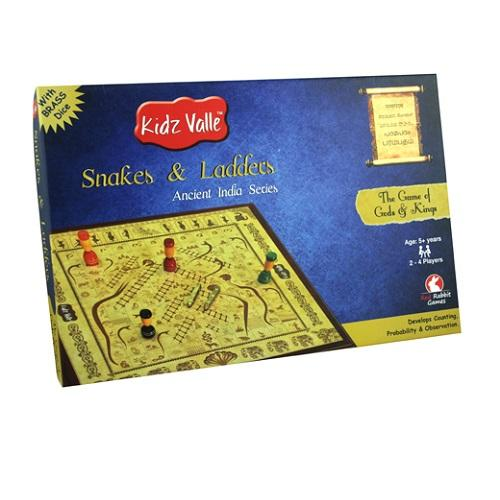 Buy Kidz Valle Snakes & Ladders Indian Traditional Board Game - GiftWaley.com