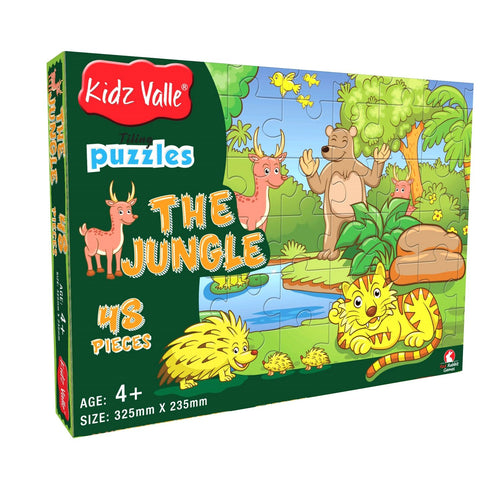 Buy Kidz Valle The Jungle 48 Pieces Tiling Puzzles Game - GiftWaley.com