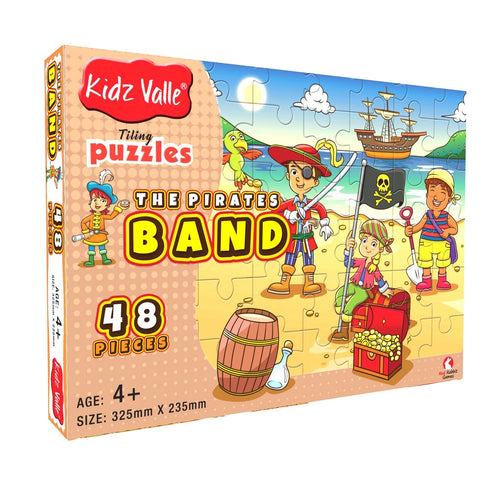 Buy Kidz Valle The Pirates Band 48 Pieces Tiling Puzzles Game - GiftWaley.com
