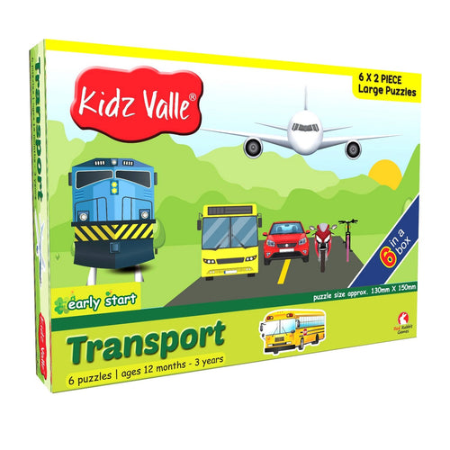 Buy Kidz Valle Transport 6 X 2 Pieces Puzzle Game - GiftWaley.com