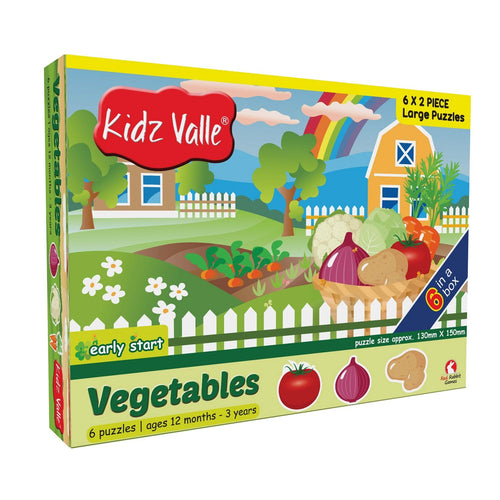 Buy Kidz Valle Vegetable 6 X 2 Pieces Puzzle Game - GiftWaley.com