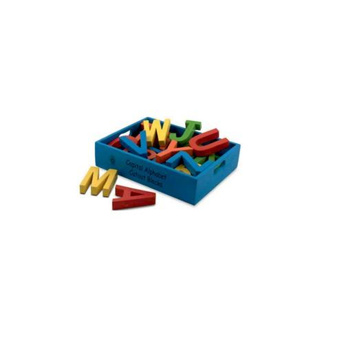 Buy Learners World Capital Alphabet Cutout Blocks Colour - Small - GiftWaley.com