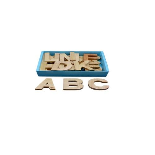 Buy Learners World Capital Alphabet Cutout Blocks Natural - Small - GiftWaley.com