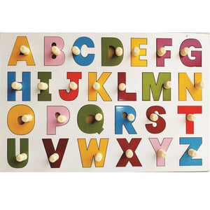Buy Learners World English Alphabet In Uppercase With Knobs - GiftWaley.com