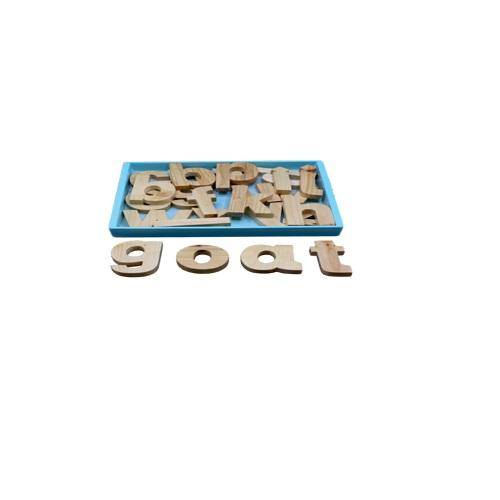 Buy Learners World Small Alphabet Cutout Blocks Natural - Small - GiftWaley.com