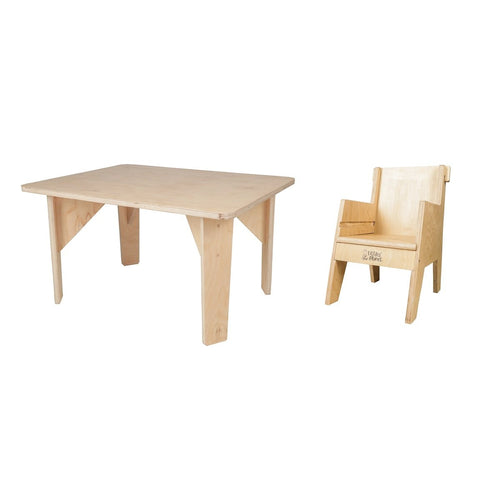 Buy Littles' Planet Montessori Wooden Table and Chair - GiftWaley.com