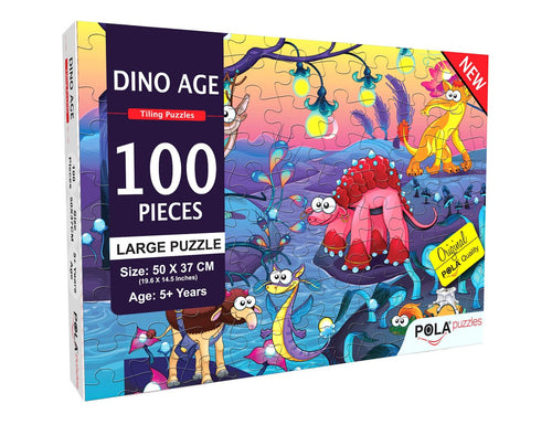Buy Pola Puzzles Dino World 100 Tiling Puzzles 100 Pieces - GiftWaley.com