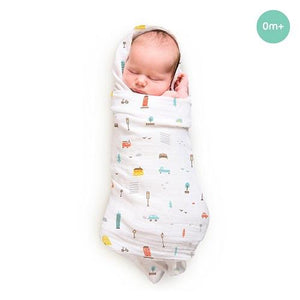 "Buy Rabitat Bamboo Swaddle Wrapper Soft 47""x47"" (City Lights) - GiftWaley.com"