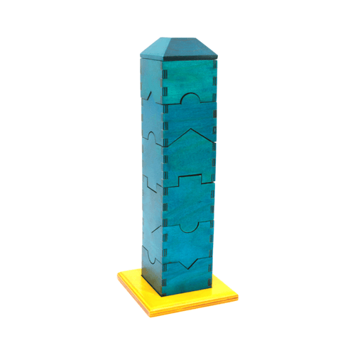 Buy Skola Jigsaw Tower Wooden Toy - GiftWaley.com