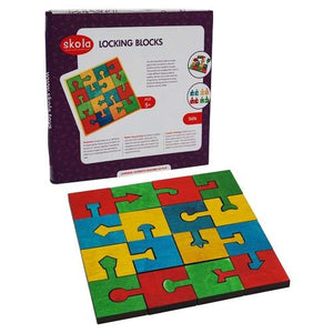 Buy Skola Locking Blocks  Wooden Toys - GiftWaley.com