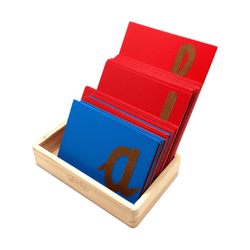 Buy Skola Sandpaper Cursive Letter Wooden Toy- GiftWaley.com