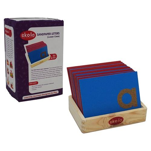 Buy Skola Sandpaper Letters Lower Case Wooden Toys - GiftWaley.com