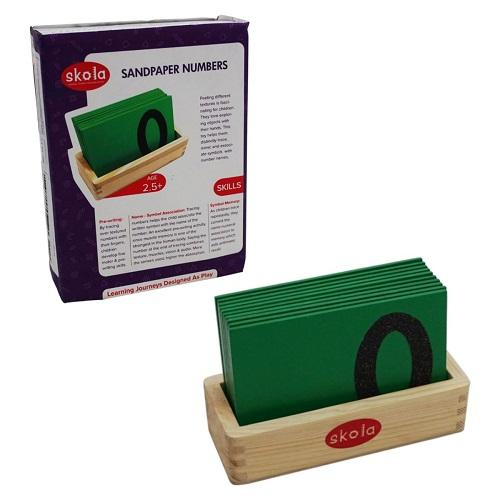 Buy Skola Sandpaper Tracing Numbers Wooden Toys - GiftWaley.com