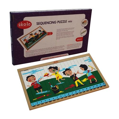 Buy Skola Sequencing Puzzle Holi Wooden Toys - GiftWaley.com