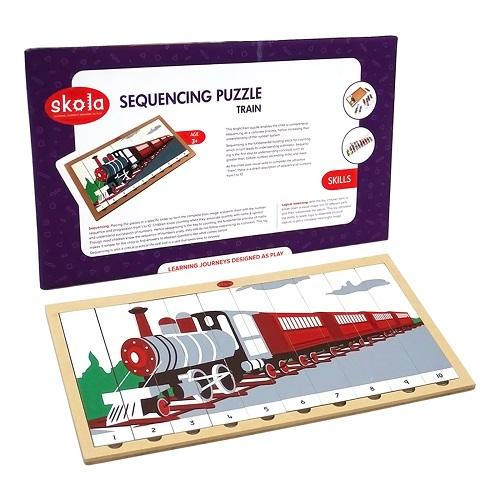 Buy Skola Sequencing Puzzle Train Wooden Toys - GiftWaley.com